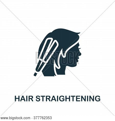 Hair Straightening Icon. Simple Element From Beauty Salon Collection. Creative Hair Straightening Ic