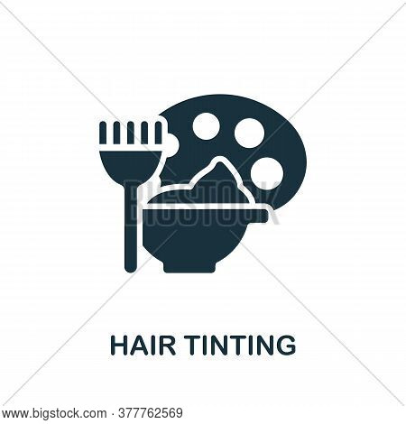 Hair Tinting Icon. Simple Element From Beauty Salon Collection. Creative Hair Tinting Icon For Web D