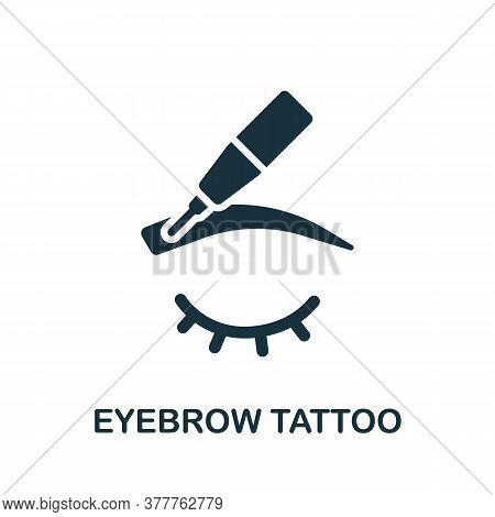 Eyebrow Tattoo Icon. Simple Element From Beauty Salon Collection. Creative Eyebrow Tattoo Icon For W