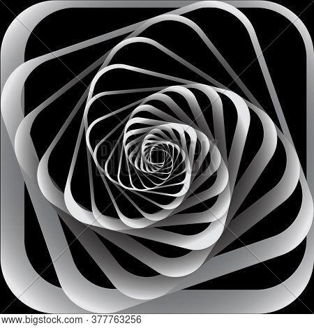 Abstract spiral vortex movement design.