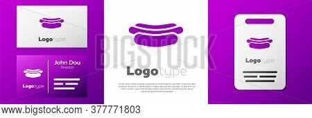 Logotype Hotdog Sandwich Icon Isolated On White Background. Sausage Icon. Fast Food Sign. Logo Desig