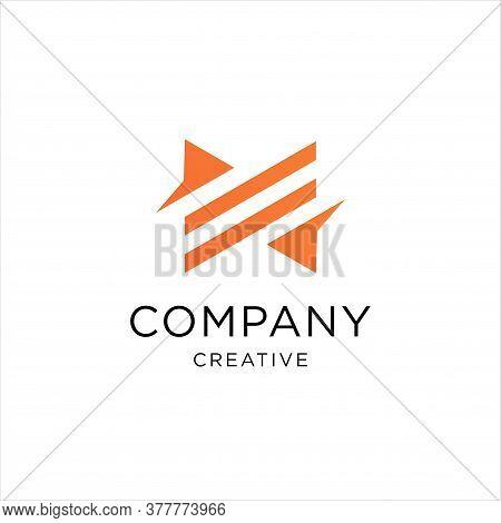Letter M Line Logo Design. Linear Creative Minimal Monochrome Monogram Symbol. Universal Elegant Vec