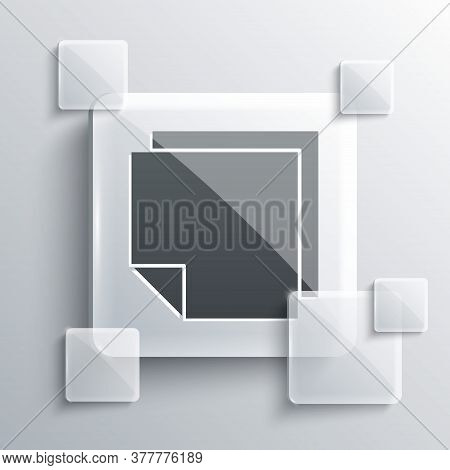 Grey Post Note Stickers Icon Isolated On Grey Background. Sticky Tapes With Space For Text Or Messag