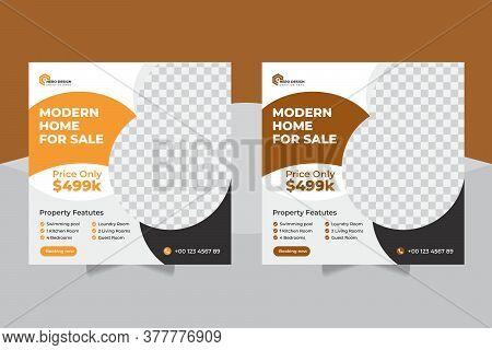 Construction Editable Post Template Social Media Banners And Real Estate Social Media Post Template