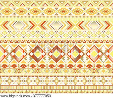 Gypsy Pattern Tribal Ethnic Motifs Geometric Vector Background. Bohemian Gypsy Geometric Shapes Spri