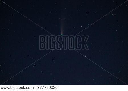 Neowise C/2020 F3 Comet In Ukrainian Sky At July, 22. Comet Near Big Bear Constellation.