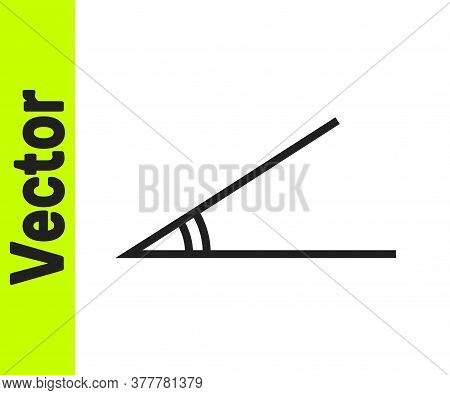 Black Line Acute Angle Of 45 Degrees Icon Isolated On White Background. Vector Illustration