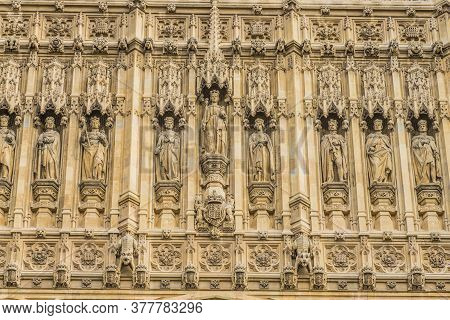 July 2020. London. Palace Of Westminster Or The Houses Of Parliament, Unesco Site, London