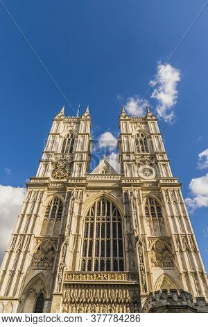 July 2020. London. Westminster Abbey A Unesco World Heritage Site, London