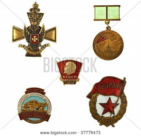 Medals Isolated On White