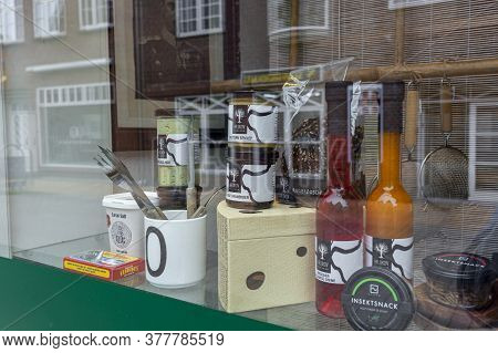 Denmark, Copenhagen, 21.02.2019: Store Wind, Wind Of Vintage Store Behind Glass, Vintage Items Behin