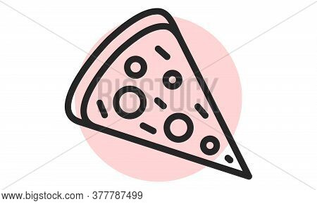 Pizza Icon. Fastfood Outline Web Icon. Vector Illustration