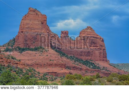 Beautiful View Of Red Rock Formations In Northern Arizona, Yavapai County, Coconino National Forest,
