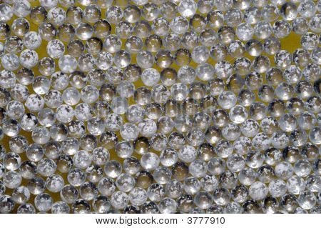 Close Up Of Numerous Glass Marbles