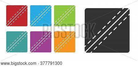 Black Sewing Pattern Icon Isolated On White Background. Markings For Sewing. Set Icons Colorful. Vec