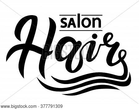 Concept Logo For Haircut Salon Or Studio; Hair Lettering Text; Brand Name Vector Illustration