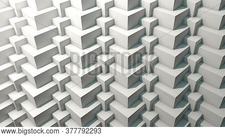 3d Cube Pattern Repetition With Shadows. 3d Rendering
