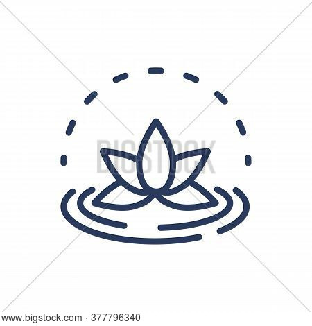 Lotus Flower Thin Line Icon. Spa Symbol, Decoration Element Isolated Outline Sign. Spa Salon, Flora,