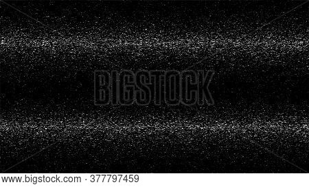 Black Glitch Background. Abstract Digital Noise Effect, Error Signal, Television Technical Problem.