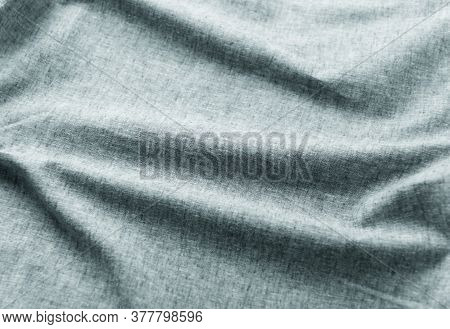 Close Up Of Linen Fabric. Copy Space.