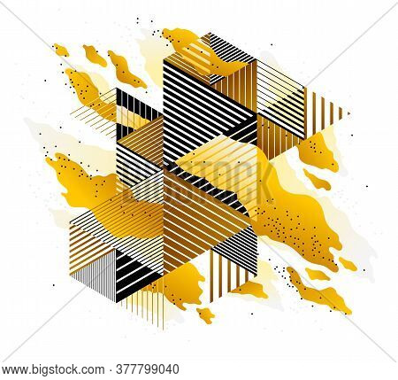 Abstract Yellow Lava Fluids Vector Illustration, Bubble Gradients Shapes In Motion, Artistic Backgro