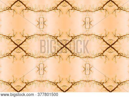 Gentle Tribe Fabric Print. Watercolor Majolica Tile. Elegant Geo Pattern. Warm Tones Seamless  Luxur