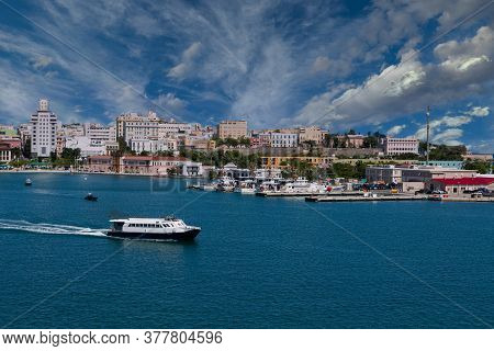 San Juan, Puerto Rico - February 5, 2019: San Juan Serves As A Major Tourist Hub To The Rest Of The