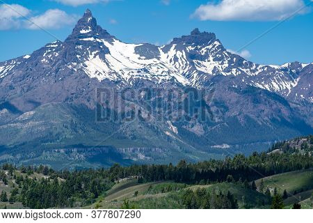 Beautiful Clarks Fork Overlook Along The Beartooth Highway In Wyoming And Montana