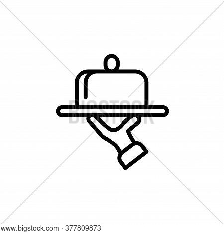 Illustration Vector Graphic Of Tray On The Hand Icon Template