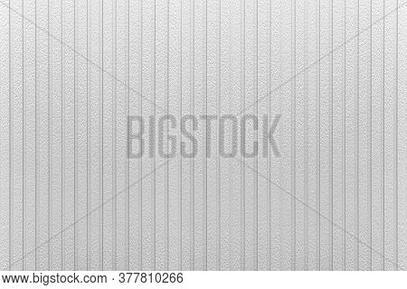 Silver Corrugated Metal Background And Texture Surface Or Galvanize Steel