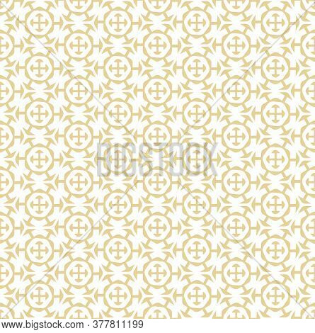 Continuous Asian Vector Technology, Background Pattern. Seamless Elegant Graphic Symmetrical Pattern