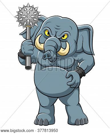 Big Elephant With Cudgel In Standing Pose