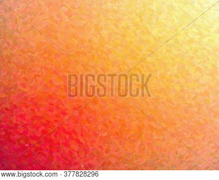 Beautiful Abstract Illustration Of Yellow, Orange And Red Pointillism With Long Dots Paint. Nice For