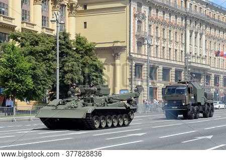 Moscow, Russia - June 24, 2020:repair And Recovery Vehicles: Armored