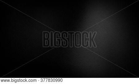 Black Simple Fabric Silk Texture Background. Textured Satin Black Background. 3d Rendering.