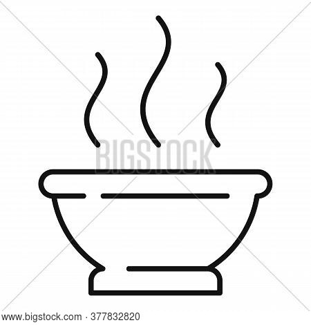 Ayurveda Tea Bowl Icon. Outline Ayurveda Tea Bowl Vector Icon For Web Design Isolated On White Backg