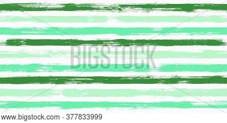 Trendy Watercolor Brush Stripes Seamless Pattern. Ink Paintbrush Lines Horizontal Seamless Texture F