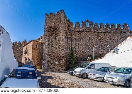 Segura De Leon, Spain - Nov 07, 2019: Castle Of Segura De Leon, Extremadura Spain