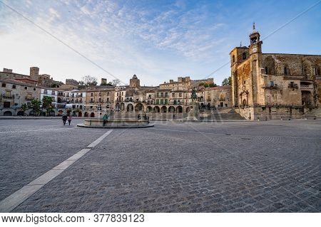 Trujillo, Spain - November 11, 2019: View Of Plaza Mayor At Trujillo, Caceres, Extremadura In Spain.