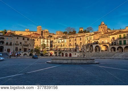 Trujillo, Spain - November 12, 2019: View Of Plaza Mayor At Trujillo, Caceres, Extremadura In Spain.