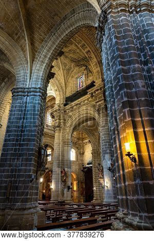 Jerez De La Frontera, Spain - Nov 15, 2019: Interior Of The Jerez De La Frontera Cathedral, Catedral