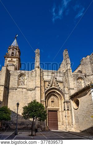 Jerez De La Frontera, Spain - Nov 15, 2019: The San Miguel Church In The Old Town Of Jerez De La Fro