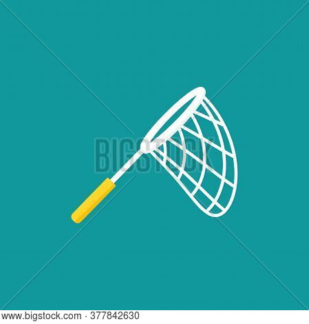 Butterfly Net With Stars. Catch, Hunt, Chase Symbol. Achieve Goals Or Dreams Creative Concept.