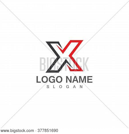 X Letter And X Logo Template Vector Illustration Icon