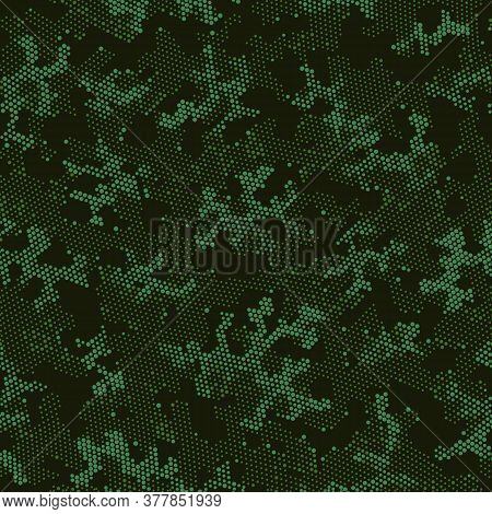 Khaki Repeated Creative Camouflage, Graphic Design.  Seamless Vector Green Military, Camo Clouds. Be