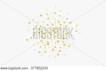 Gold Rain Festive Transparent Background. Isolated Shard Invitation. Golden Dust Falling Wallpaper.