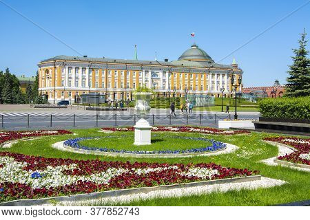 Kremlin Senate Palace (russian President Residence) In Moscow, Russia