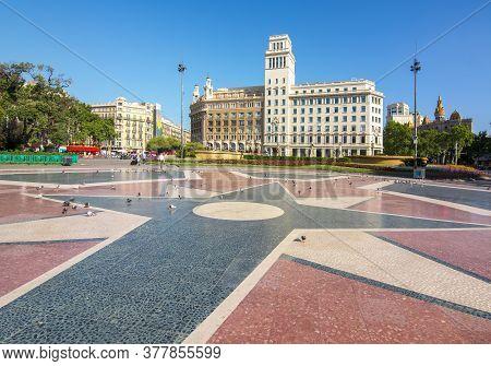 Catalonia Square (placa De Catalunya), Barcelona, Spain