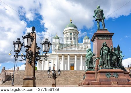 Helsinki Cathedral On Senate Square In Summer, Finland