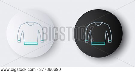 Line Sweater Icon Isolated On Grey Background. Pullover Icon. Colorful Outline Concept. Vector